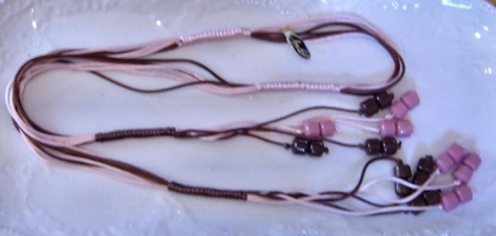 "Miriam Haskell Tagged Bolo Necklace - LONG 45"" 1960's?"