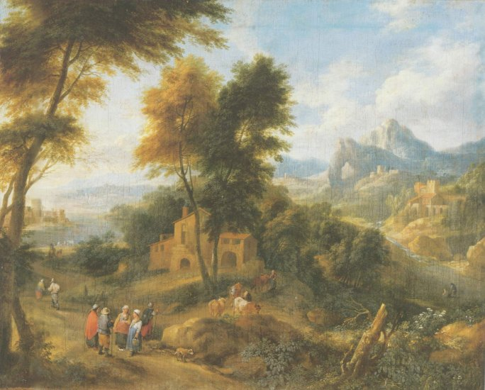 Pieter bout Mountainous Landscape Painting
