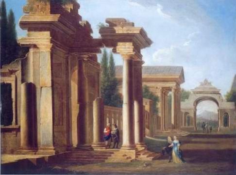 nicolo codazzi - A CAPRICCIO OF CLASSICAL RUINS
