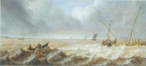 Pieter Van Der Croos - SHIPPING IN A STIFF BREEZE
