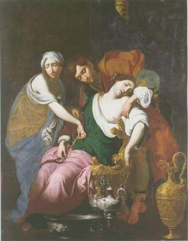 Francesco Furini - RACHEL GIVING BIRTH TO JOSEPH