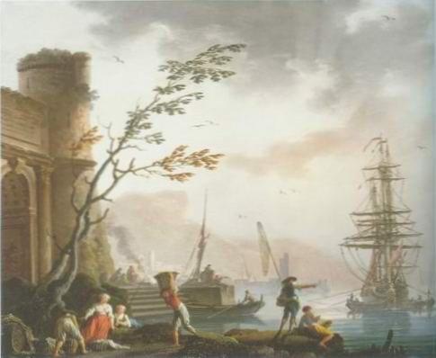 maseilles - PORT WITH FISHERMEN LOADING