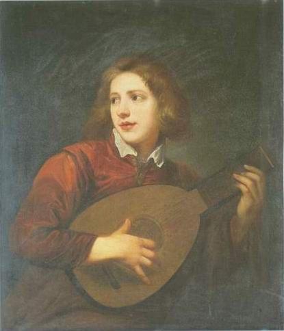 Sir Antony Van Dyck - BOY PLAYING A LUTE