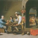 Cornelis Mahu - BACKGAMMON PLAYERS