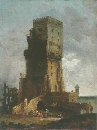 Hubert robert - CAPRICCIO OF A TOWER