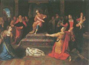 Frans Francken II -  THE JUGEMENT OF SOLOMON