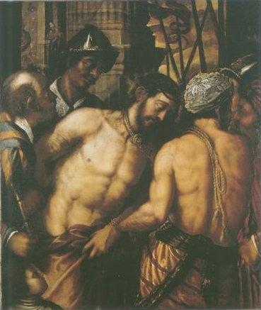 Venetian School - CHRIST AT THE COLUMN