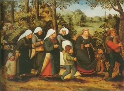 Pieter Brueghel II - THE PROCESSION OF THE BRIDE