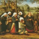 Pieter Brueghel II - THE PROCESSION OF THE BRIDE