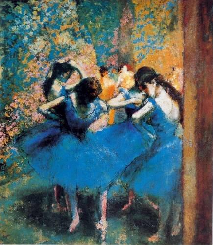 Edgar Degas - BEHIND THE CURTAIN