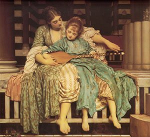 Lord Frederic Leighton - MUSIC LESSON