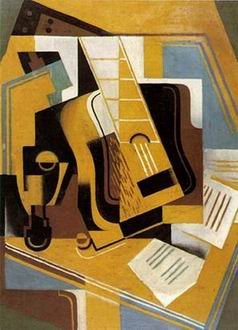 Juan Gris  - GUITAR AND BOOKS