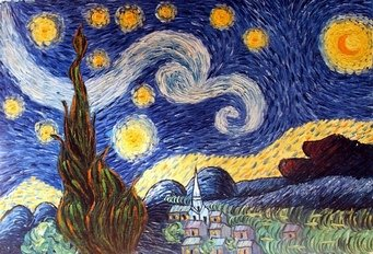 STARRY NIGHT - Vincent Van Gogh paintings