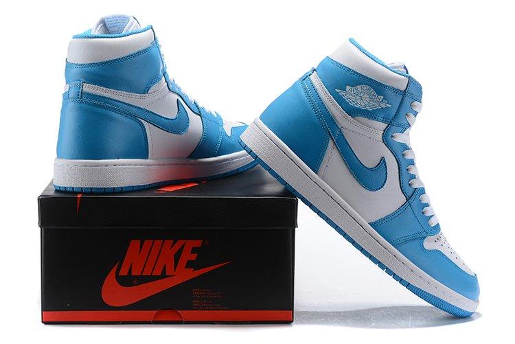 size 40 e6d86 1060f Men's Jordan AJ 1 Basketball Shoes North Carolina Blue