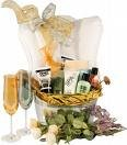 For Her a Special Basket filled with Perfume, Bath oils, and..