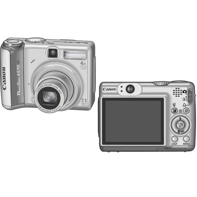 Canon PowerShot A570 IS 7.1MP (w/ 2GB SD Card) - 1773B001