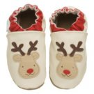 new soft soled baby leather shoes REINDEER (6-12 mo)