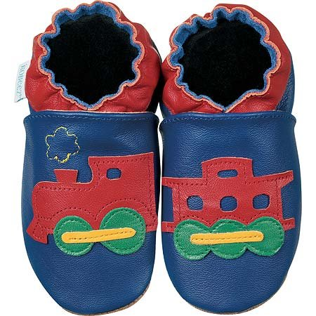 new soft soled baby leather shoes CHOO CHOO TRAIN (6-12 mo)