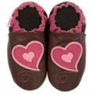 new soft soled baby leather shoes HEARTS (6-12 mo)