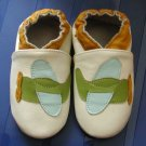 new soft sole baby leather shoes AIRPLANE cream (0-6 mo)