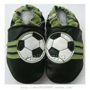new soft soled baby leather shoes SOCCER (0-6 mo)