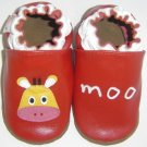 new soft sole baby leather shoes COW MOO (12-18 mo)