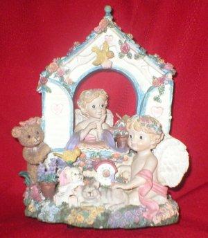 Little Cherubs and wildlife Friends Music Box