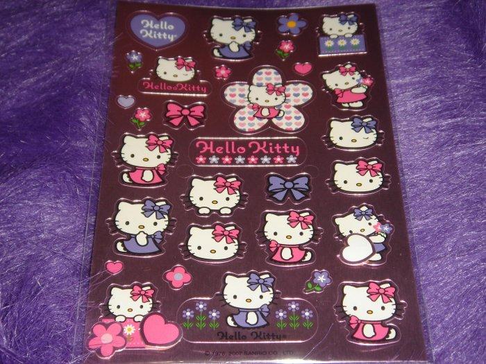 Pink Metallic Hello Kitty Sticker Sheet