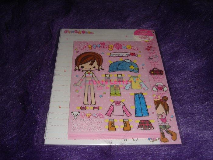 Q-Lia Fitting Room Girls Letter Set Kawaii
