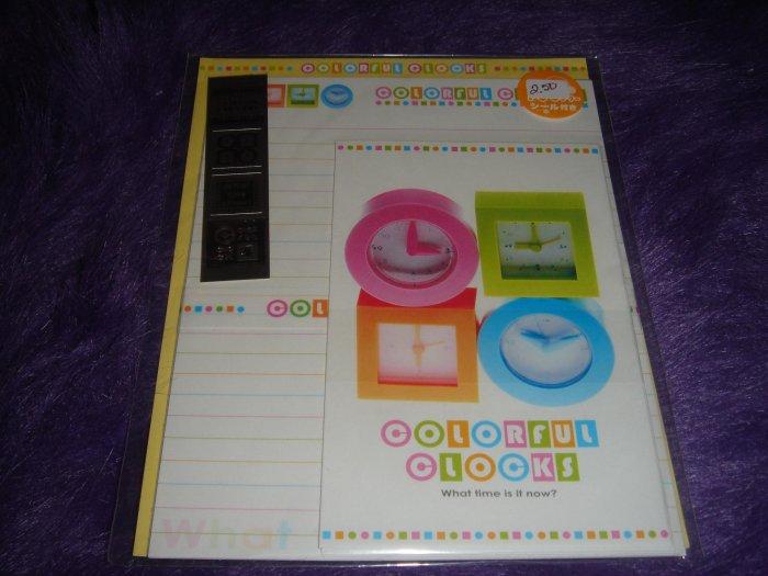 Crux Colorful Clocks Letter Set Kawaii