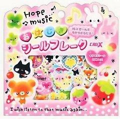 "Crux Pink Pals 3-D ""Glass Like"" Sticker Sack Kawaii"