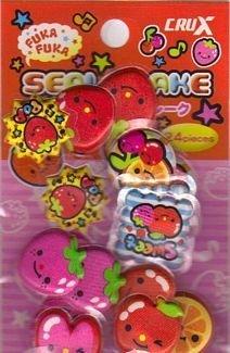 Crux Strawberry Pop Puff Puff Sticker Sack Kawaii