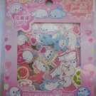 San-X Pink Mamegoma Baby Seals Sticker Sack Kawaii