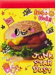 Q-Lia Junk Star Happy Hamburger Mini Memo Pad Kawaii