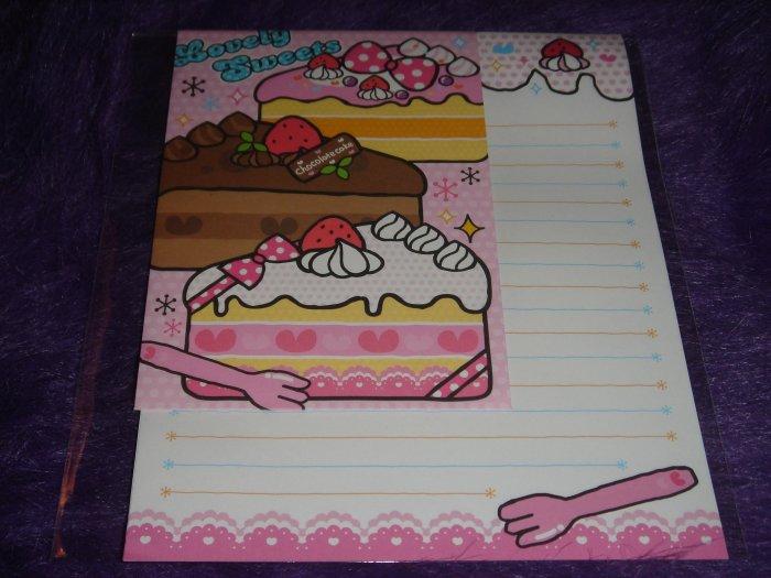 "Kamio Lovely Sweets ""Cake"" Letter Set Kawaii"
