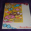 "Kamio Lovely Sweets ""Doughnuts"" Letter Set Kawaii"