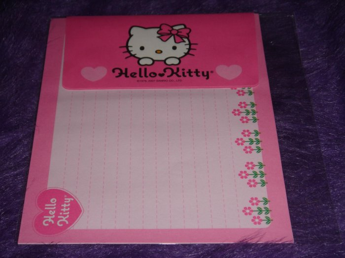 Sanrio Hello Kitty Pink Flowers Letter Set 2