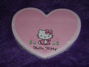 Sanrio Hello Kitty Pink Heart Post it Memo Pad