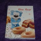 Morning Glory Blue Bear Doughnut Mini Memo Kawaii