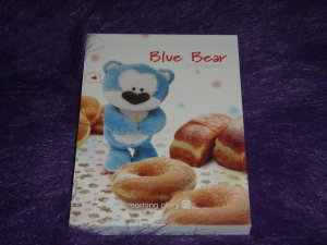 Morning Glory Blue Bear Doughnut Mini Memo Kawaii