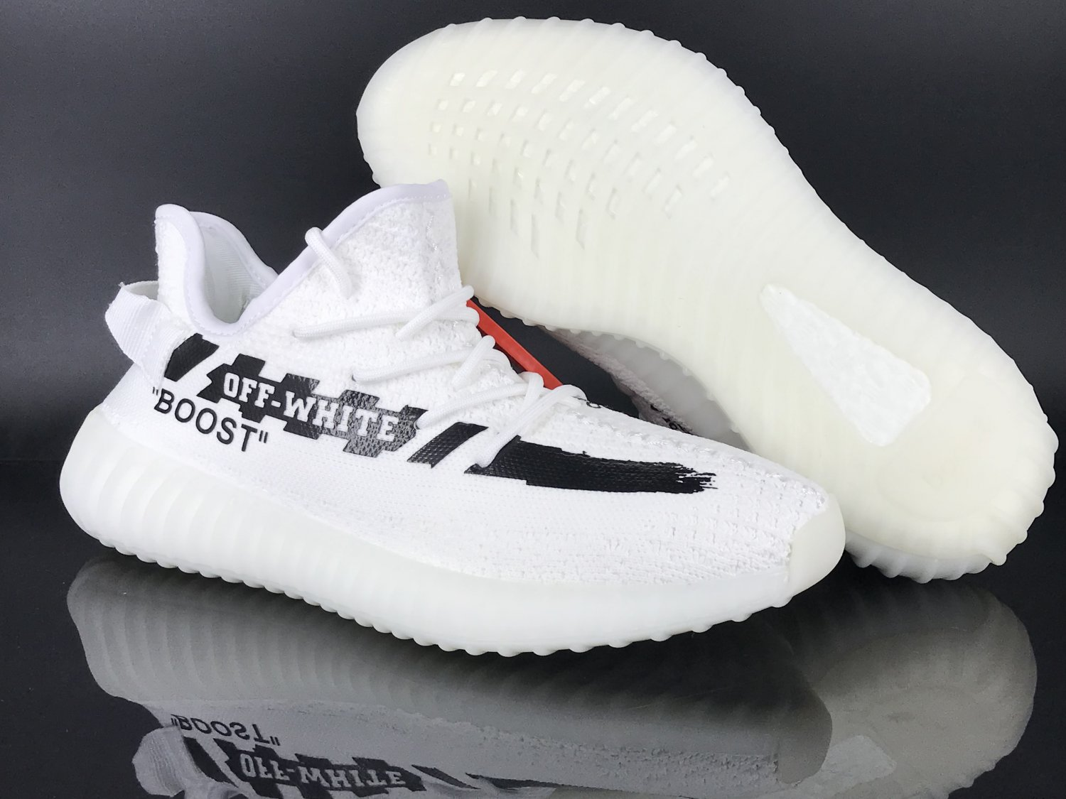 half off 79c97 0c5c7 Men's Off-White x Yeezy Boost 350 V2 White and Black