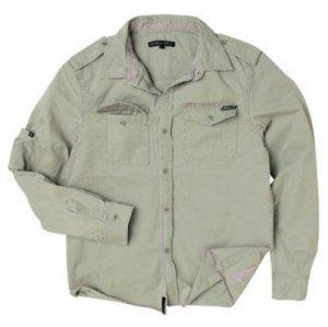 MAMBO Mens Station Shirt - Ash - Medium
