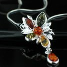 SALE!! - Baltic Amber in Sterling Silver Necklace