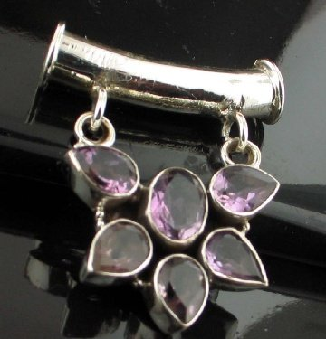 SALE!! - Genuine Amethyst Necklace with Silver Choker
