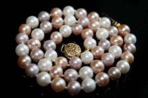 SALE!! - Genuine Multi-Color Akoya Pearls Necklace