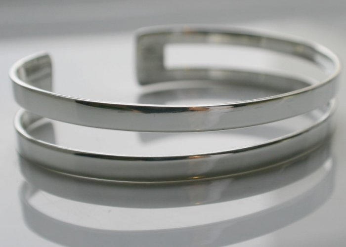 SALE!! - Genuine 925 Sterling Silver Cuffs (Bangles) - 2 Strand