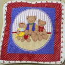 Handmade Quilt - cushion covers - 3 bears