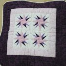 Handmade Quilt - cushion covers - Stars_Purple