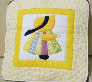 Handmade Quilt - cushion covers - Girl_Yellow