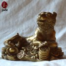 Chinese Money Leopard bronze Statue